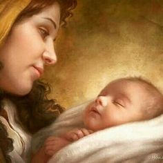 Trademark Fine Art 'A Son Is Given' Canvas Art by Howard Lyon, Size: 24 x 32 Blessed Mother Mary, Blessed Virgin Mary, Jesus E Maria, Mama Mary, Holy Rosary, Mary And Jesus, Madonna And Child, Christian Art, Mothers Love
