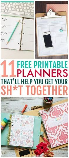 Here's a curated list of 11 free printable 2018 planners to kick start the new year. A printable planner is perfect for making weekly or monthly to-do