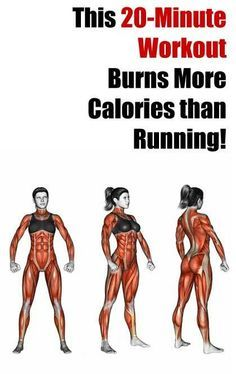 This 20-Minute Workout Plan Burns More Calories Than Running! A superfast workout which will help you lose weight and tone your muscles at the comfort of your own home!