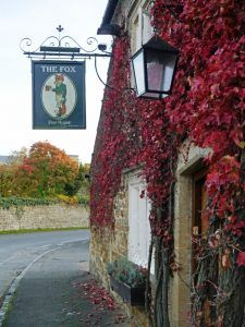 Cotswold Walks: Autumn in the Cotswolds at the Fox, Oddington