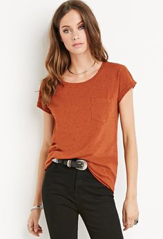 Speckled Cotton-Blend Tee