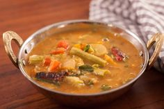 Mixed Vegetable Sambar Recipe (Tangy Lentil Curry With Vegetables)