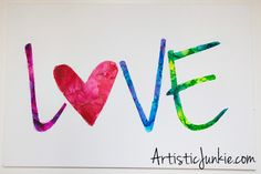 Love, Melted Crayon Art
