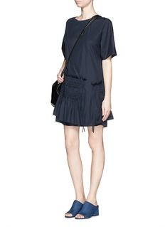 3.1 PHILLIP LIM Smocked panel poplin T-shirt dress