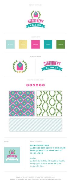 Stationery Academy Brand Style Guide // Brand Board