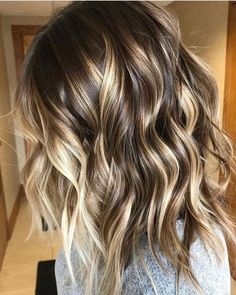 New hair goals blonde balayage highlights ideas Blonde Hair With Highlights, Hair Color Balayage, Hair Colour, Balayage Brunette, Bayalage, Long Bob Balayage, Balayage Lob, Golden Highlights, Brown Balayage