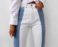 A different kind of denim look.
