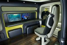 Fixed offices are so 20th century when TreeHuggers have to be everywhere at once. That is why we so happy about the new Nissan NV200, which combines storage and usable interior space by pulling the interior out like a drawer when stopped, so that it is