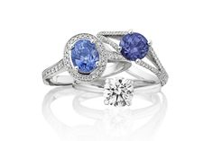 Ethical blue sapphire and diamond engagement rings from Ingle & Rhode // The Natural Wedding Company