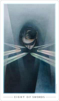 Eight of Swords | The Fountain Tarot -- culmination of negative thoughts, mental entrapment