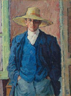 Rudolf Tewes: Self-portrait, 1906.