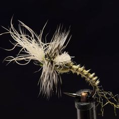 Gray/Olive cripple emerger featuring @whitingfarms grizzly hackle on @ahrexhooks FW511, antron, turkey biots and snowshoe rabbit. . . . . .…