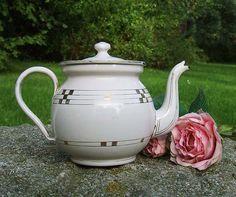 Vintage European Enamelware Teapot by BING GBN by eclectabilia