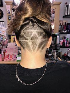 Diamond hair tattoo