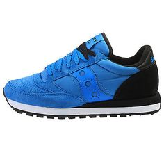 Saucony Jazz Original St Mens S70194-2 Blue Black Running Shoes Sneakers Sz 13