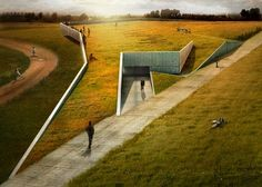 Baseball stadium and training facility UVV Green Architecture, Landscape Architecture, Architecture Design, Urban Landscape, Landscape Design, Architecture Visualization, Diy Garden Decor, Green Building, Urban Design