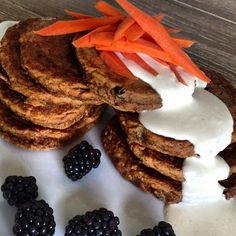Carrot cake pancakes .. recipe is on www.hungryhappens.com - @Hungry Happens- #webstagram