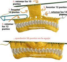 Cómo tejer zapatitos para bebés en dos agujas o palitos con lana y detalles en hilo