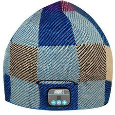 Mütze mit eingebautem Kopfhörer. Songs unterwegs genießen auch wenn es kalt ist. Das Winter-Style-Gadget. Ideal für jeden Outdoor Wintersport und Gamer.