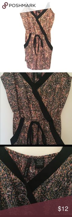 Fire Los Angeles Romper with Drawstring Waist Perfect romper to throw on with sandals and go! Fire Los Angeles brand. Size Small. Adjustable straps and drawstring waist. Wore it once (too small for me). Fire Los Angeles Other