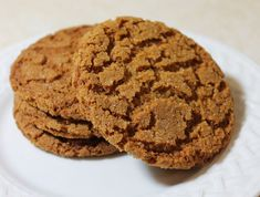 Recipe for gingersnap cookies, a crunchy, spicy cookie, perfect any time of year.