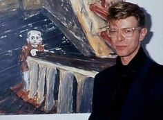 1993 with one of his paintings