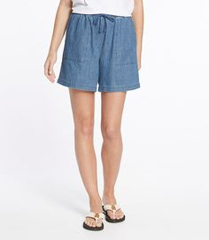 LLBean denim shorts