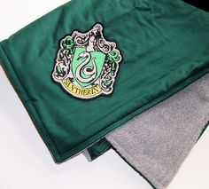 Harry Potter Slytherin House Crest Baby Blanket - Double-Sided Fleece MTCoffinz by MTspaces on Etsy https://www.etsy.com/listing/233605308/harry-potter-slytherin-house-crest-baby
