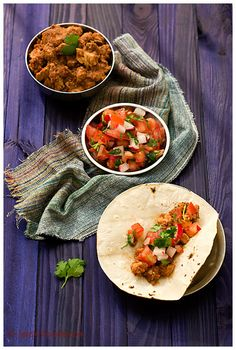 Pork Tacos in Red Indian Chile Sauce (combining the flavors of Mexican and Indian cuisine)   Spicie Foodie