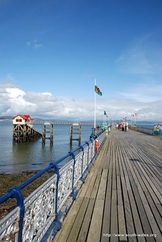 Mumbles Pier at the southern end of Swansea Bay, gateway to Gower Peninsula, South Wales UK. Swansea Bay, Swansea Wales, British Seaside, British Isles, Wales Uk, South Wales, British Holidays, Gower Peninsula, Sir Anthony