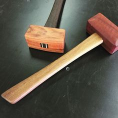 I was looking into buying a wood mallet for the shop but DIY in me said no... So I made these. #diy #woodmallet #hammer #hammers #madeinutah #jatoba #wenge #jahara #afromosia #pithstudios #custommade #tools #woodworking #woodwork #ogdenutah #doityourself de pithstudios