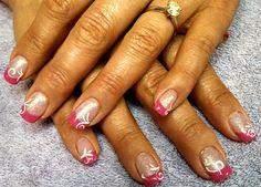 pink tip delight by aliciarock - Nail Art Gallery nailartgallery.nailsmag.com by Nails Magazine www.nailsmag.com #nailart
