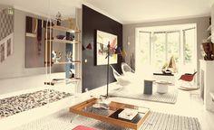 Une maison arty et design des années 50