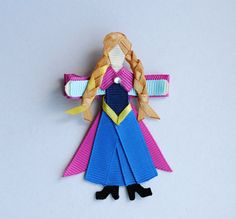 Anna from Frozen INSPIRED Ribbon Sculpture by BelleandRoseBows