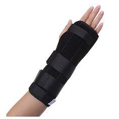 Wrist Brace Support  TOOGOOR Black Wrist Brace Support Splint For Carpal Tunnel Arthritis Sport Sprain Pain Right Hand S *** Click the VISIT button for detailed description