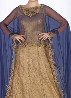 Traditional Cut Dana  Anarkali Suit