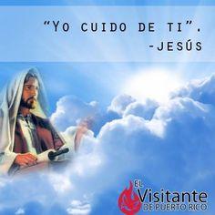 Jesús te recuerda que El cuida de ti. #Dios #Fe #Católica #Jesús #Alegría