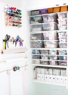 #Craft Room #Storage and #Organization from Armelle Studio