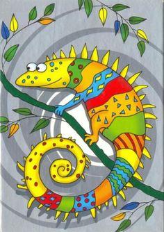 Красочный хамелеон. Rainbow chameleon