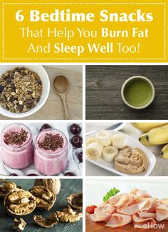 You know you shouldn't eat before bed, but if you are experiencing hunger, you could eat a few things that could actually help you lose weight at that hour! Skip the processed packaged snack and enjoy the following! http://www.ehow.com/list_7320150_bedtime-snacks-burn-fat.html?utm_source=pinterest.com&utm_medium=referral&utm_content=curated&utm_campaign=fanpage