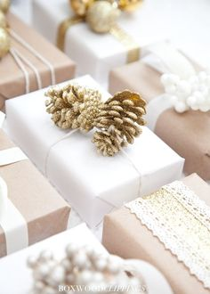 It is November 1st which means we can officially start thinking about Christmas!!!! One of our favorite things about Christmas is wrapping all our gifts, so today we wanted to show you how to prett…