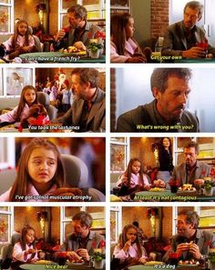 House gave her his fries, see, he's not such a bad guy :) House Md Funny, House Jokes, Best Tv Shows, Movies And Tv Shows, It's Never Lupus, House And Wilson, Serie Doctor, Everybody Lies, Gregory House