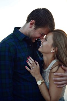 This sweet couple has a great love story (and some awesome photos to inspire your own engagement shoot)