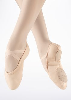 Move Split Sole Canvas Ballet Shoe in Pink - Move Dancewear®