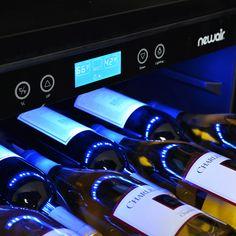 NewAir 52 Bottle Built-In Compressor Wine Cooler - Stainless Steel