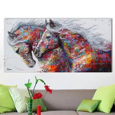 """Purchase this amazing """"Macintosh Horses"""" Canvas Painting and we will ship the item for free. This is the perfect centerpiece for your home."""