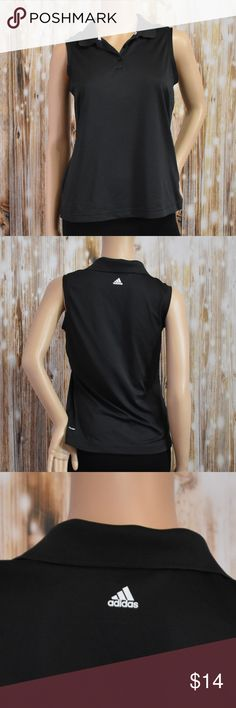 """Size S ADIDAS Golf Climalite Polo Sleeveless Top Size S Measurement laid flat: -B: 17"""" -L: 22""""  Preloved , Clean adidas Tops"""
