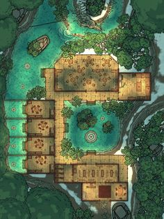 Fantasy City Map, Fantasy World, Dungeons And Dragons Homebrew, D&d Dungeons And Dragons, Dnd World Map, Pathfinder Maps, Building Map, Rpg Map, Map Pictures