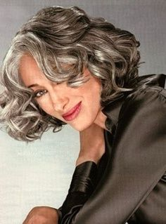 Steely gray hair