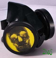Black Cyber Mask Cyber Goth Respirator Gas Mask  by olnat31sun, $15.99
